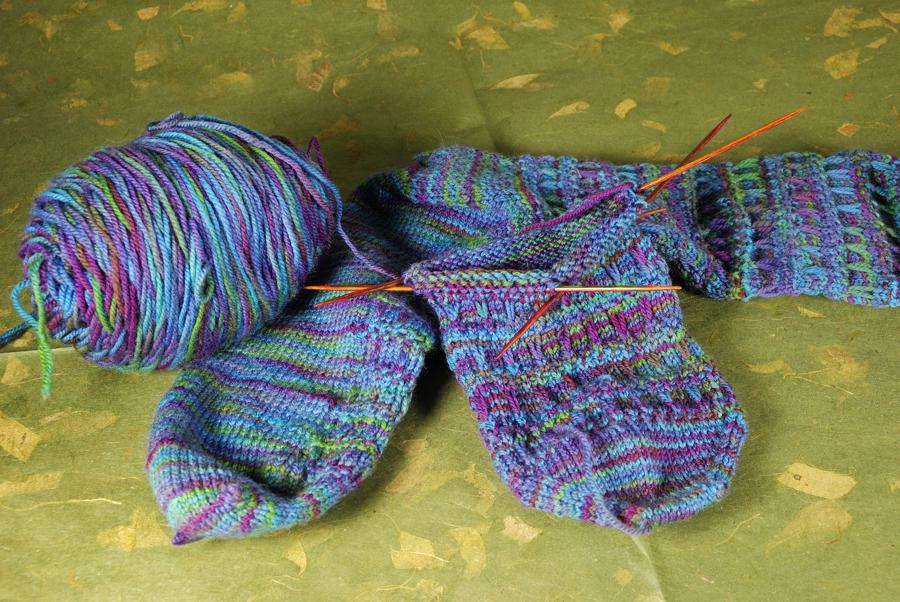 Knitting Socks The Blue Bottle Tree