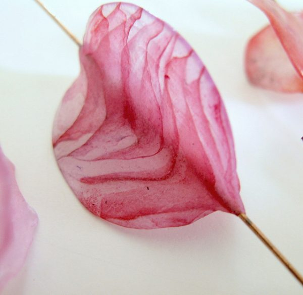 Pink Veiled Butterfly Bead by Claire Maunsell