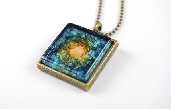 """Emerging"" Ink Blot Pendant by The Blue Bottle Tree"