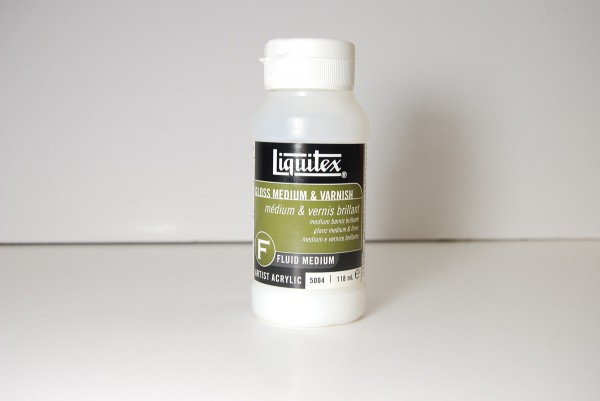 Liquitex gloss medium and sealer is used for thinning artist's acrylic paint and sealing paintings.