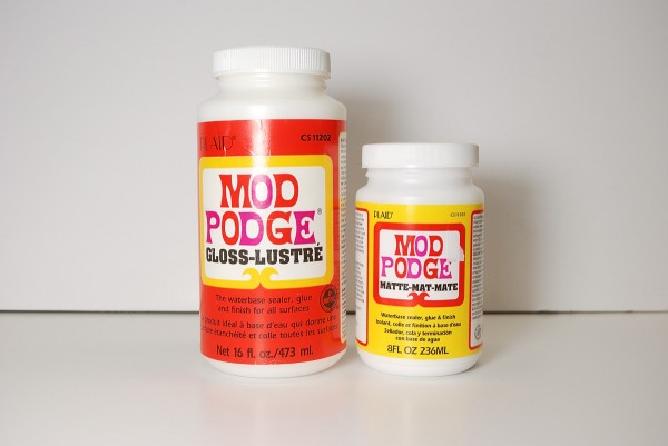 Mod Podge comes in glossy and matte finishes but it still just cheap glue.