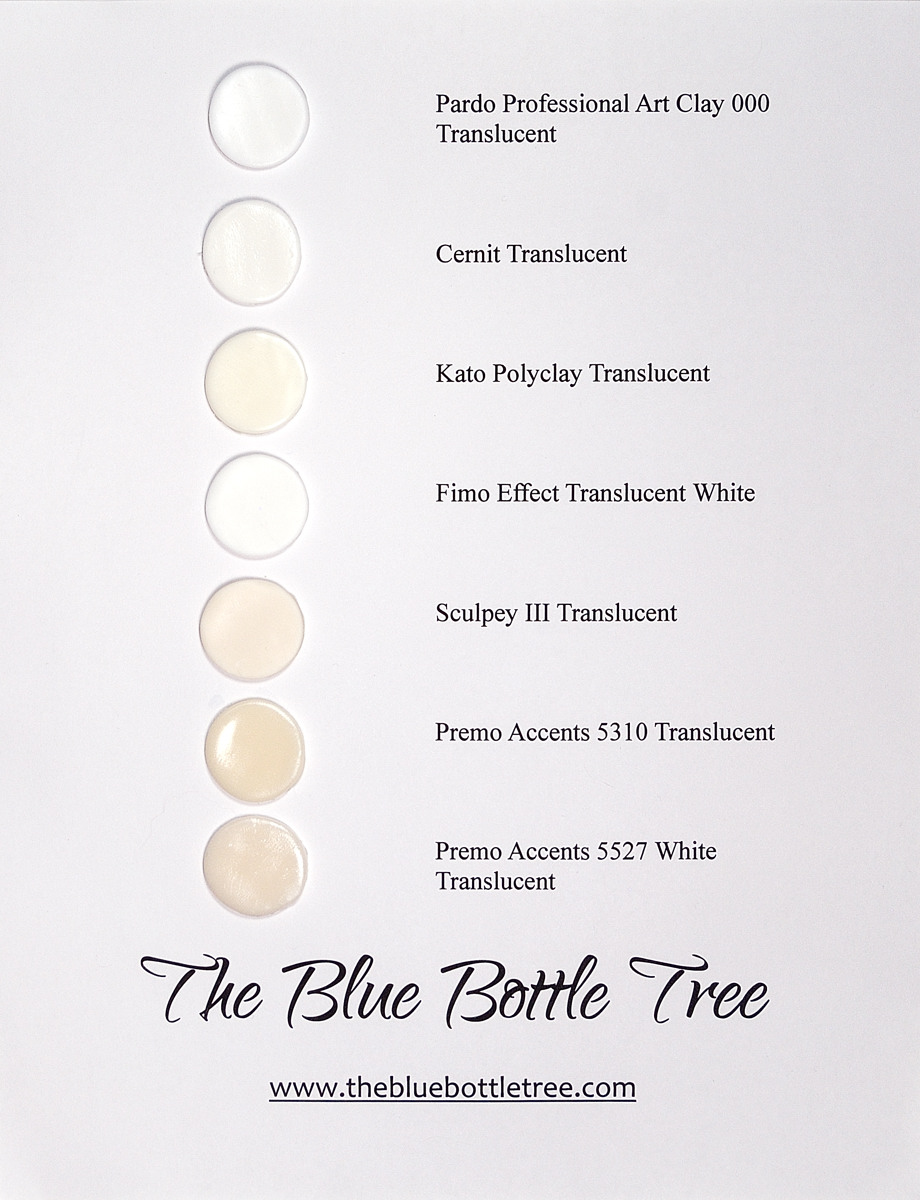 Which Is The Clearest Translucent Polymer Clay The Blue Bottle Tree