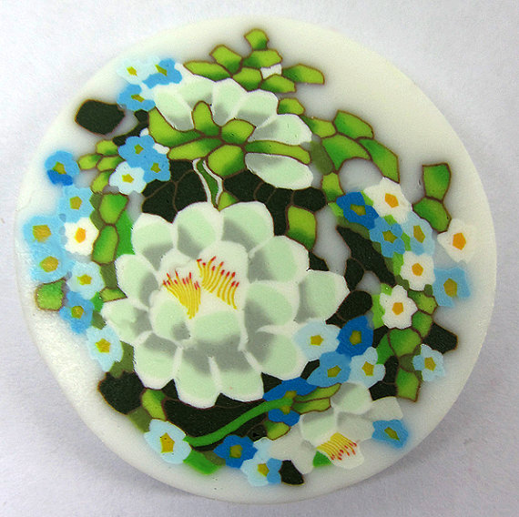 Bouquet of flowers millefiori can polymer clay by Tamishvat
