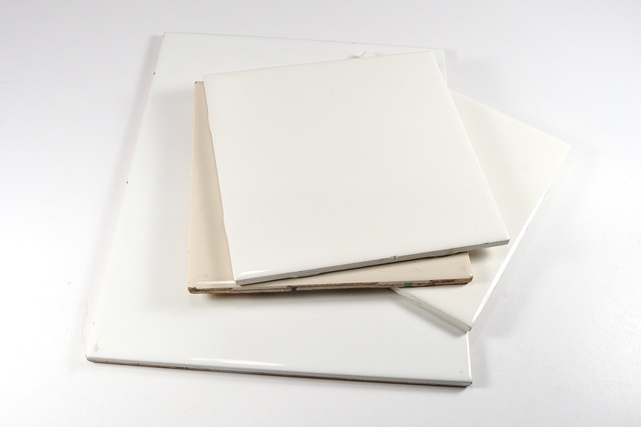 Ceramic tiles can be used in the craft room or art studio. www.TheBlueBottleTree.com