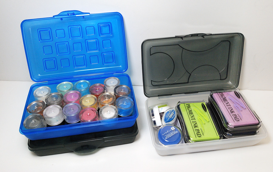 craft room storage boxes - the blue bottle tree