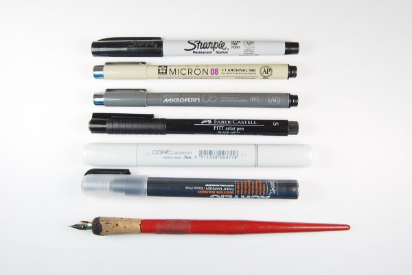 Comparison of the best pens to use on polymer clay. By The Blue Bottle Tree.
