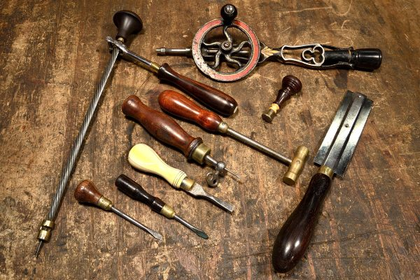 Antique jeweler's tools.