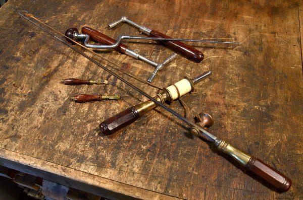 Antique piano maker's tools.