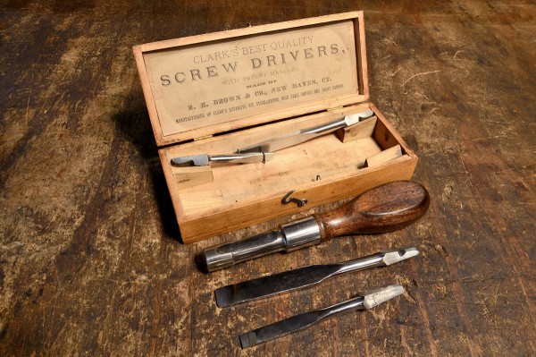 Complete screw driver set with original box.