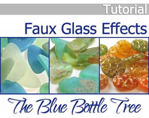 Learn to make faux sea glass, Roman glass, Czech glass, and carnival glass from polymer clay with this tutorial from Ginger Davis Allman of The Blue Bottle Tree.