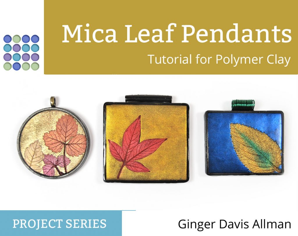 Free mica leaf pendant tutorial from The Blue Bottle Tree.