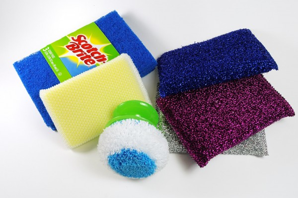 Kitchen scrubbers are perfect tools for texturing polymer clay.