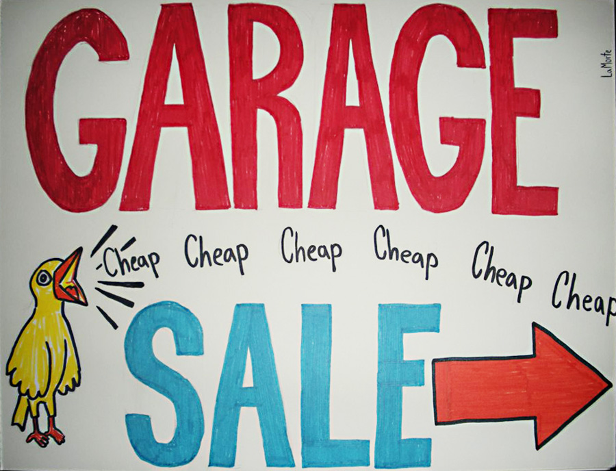Garage sales are an excellent source of materials and supplies for your craft studio. Read more at The Blue Bottle Tree.