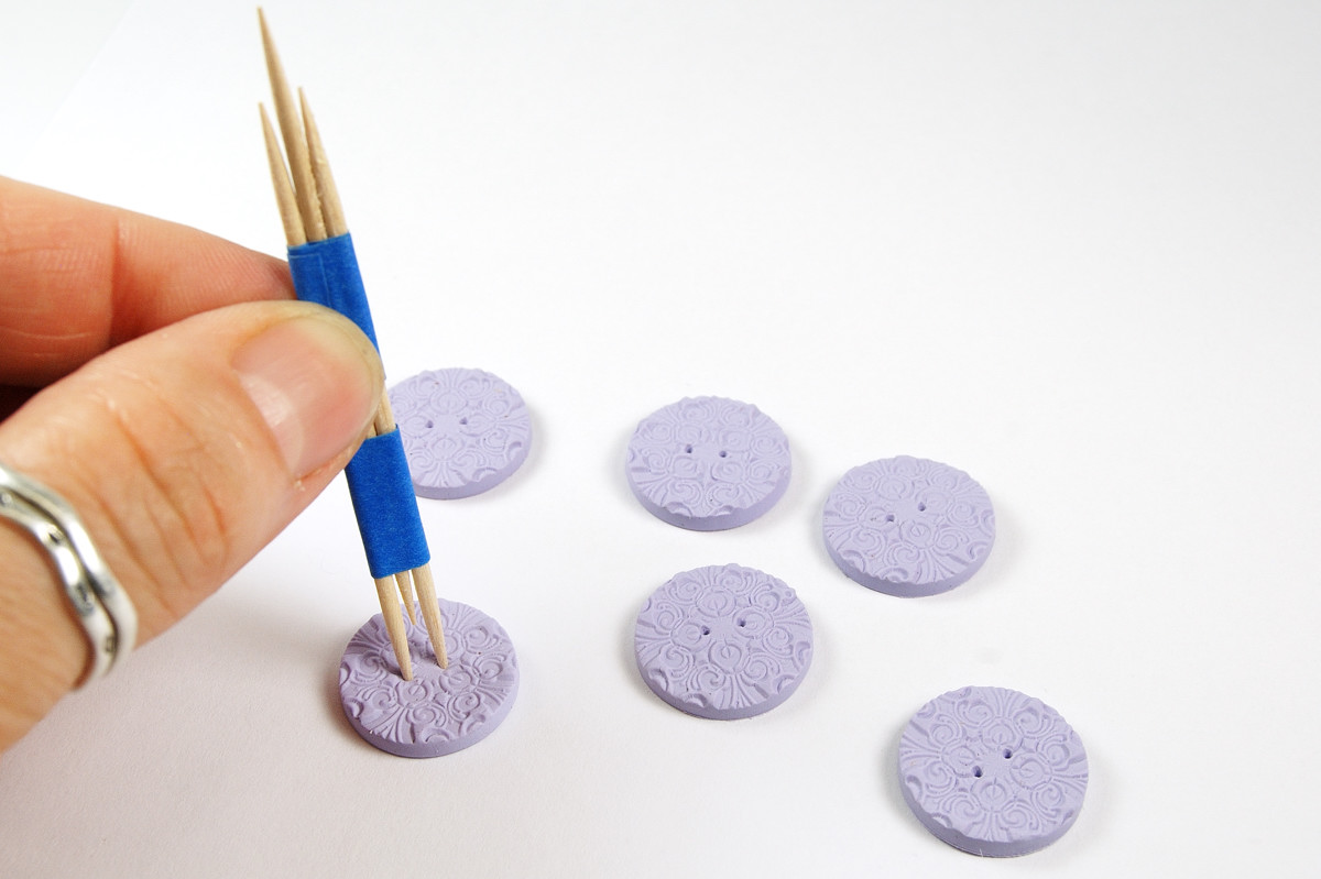 How To Make Polymer Clay Buttons The Blue Bottle Tree