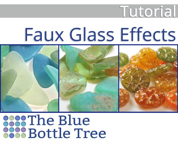 Incredibly convincing faux glass effect in polymer clay with this tutorial from The Blue Bottle Tree.