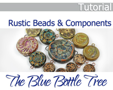 Rustic Beads and Components Tutorial on Etsy