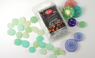 Pardo Translucent Art Clay is great for faux glass projects.