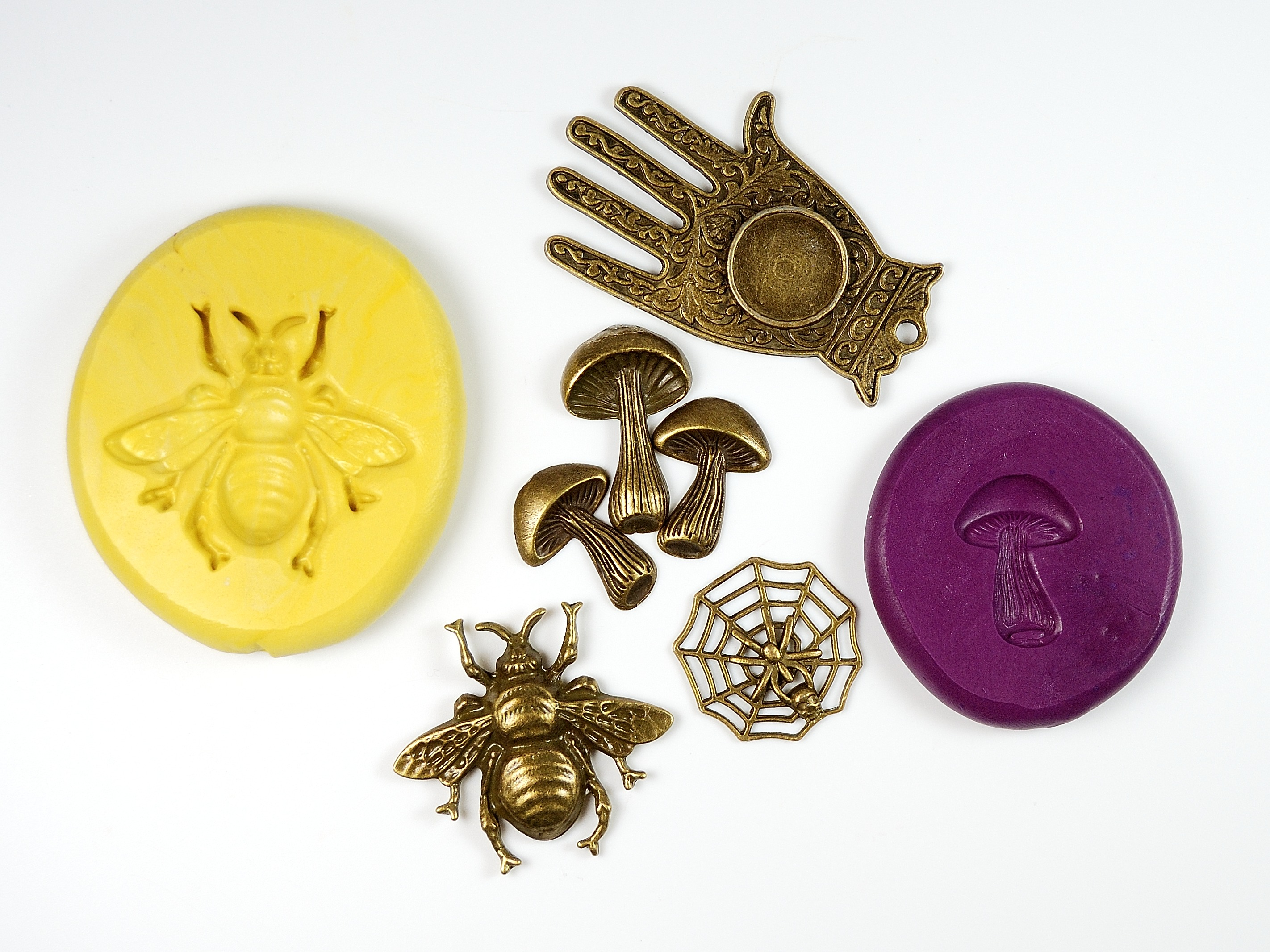 How to Make Silicone Molds from Charms