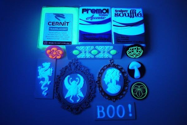 Learn how to make UV Reactive Polymer Clay Designs in this article by The Blue Bottle Tree.