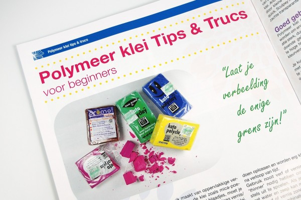 Polymeer Klei Tips & Trucs, my article in the special Dutch language version of From Polymer to Art Magazine.