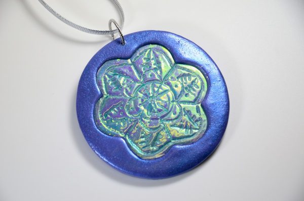 polymer clay christmas ornament in polymer clay