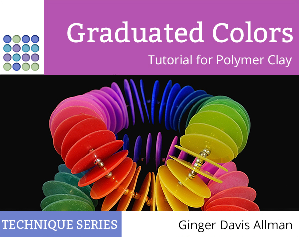 Learn to make graduated color beads without a pasta machine and make thin circles in polymer clay without using cutters in this clever tutorial from The Blue Bottle Tree.