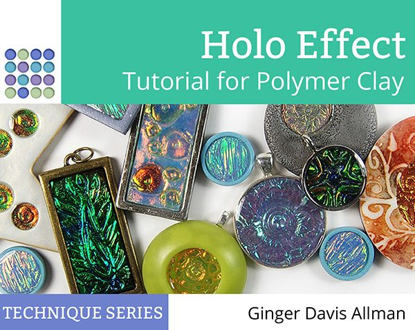 Make iridescent, shimmery effects in your polymer clay projects with the Holo Effect Tutorial from The Blue Bottle Tree.