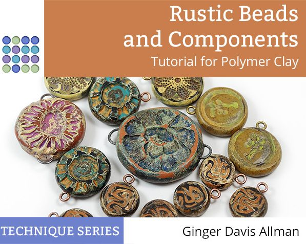 Learn to make rustic styled beads from polymer clay with this fun tutorial from The Blue Bottle Tree.