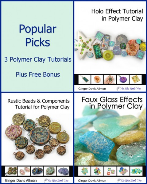 This bundle of Popular Picks are my most popular polymer clay tutorials, gathered in one purchase for a reduced price.