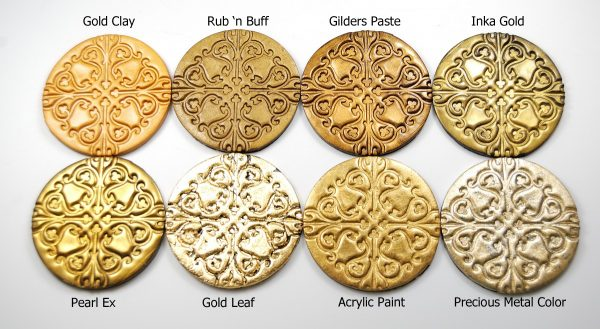 Make Faux Stamped Metallic Tags from Polymer Clay by ...