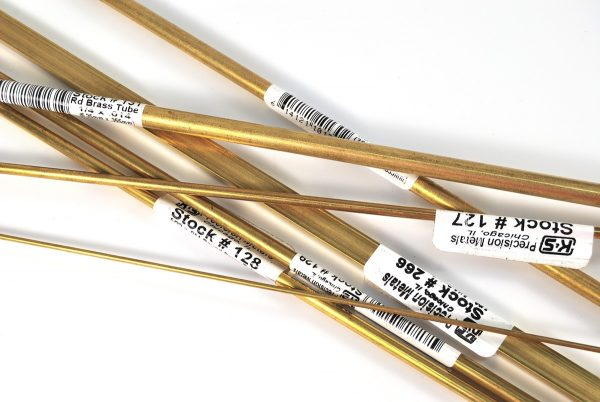 Brass tubing of various sizes - These can be cut to create DIY mini cutters for polymer clay or other clays.