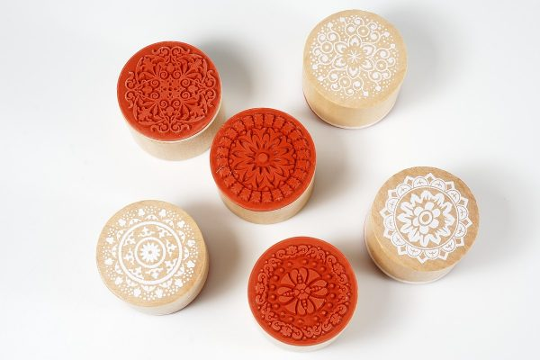 These detailed lace stamps are perfect for making impressions in polymer clay.