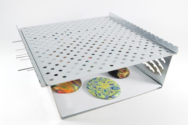 The lid of the LC Baker is perforated to give good air circulation for even heating in convection ovens.