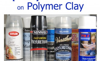 Sticky sealer? Learn about testing spray sealer on polymer clay at The Blue Bottle Tree.