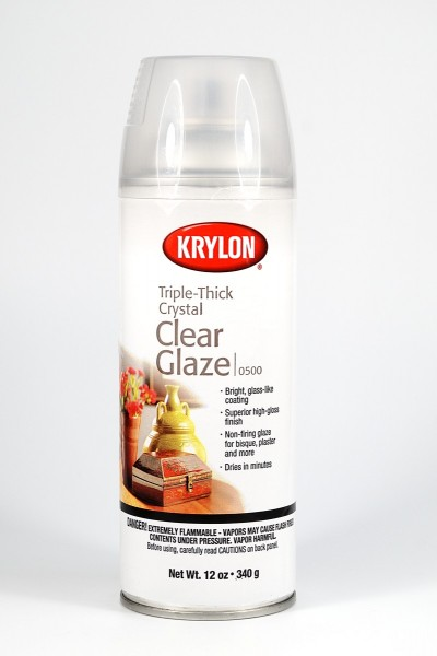 Do not use Krylon Crystal Clear Glaze on polymer clay because it will turn sticky over time.