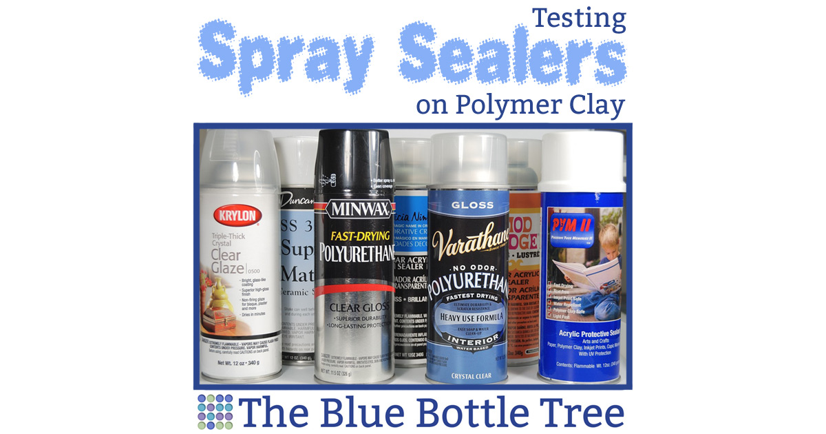 spray sealers for polymer clay can be sticky