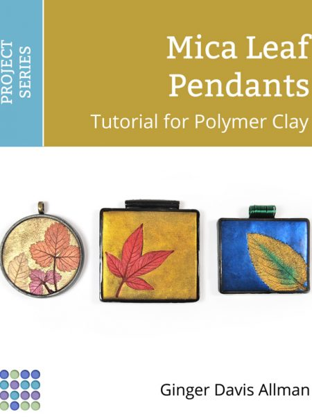 Learn how to use mica powders with leaves you collect to create these fun polymer clay pendants. Free tutorial by The Blue Bottle Tree.