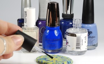 Don't use nail polish on polymer clay. Read these 10 Sculpey Mistakes to Avoid at The Blue Bottle Tree.