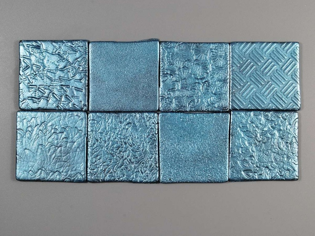 Various simple textures on polymer clay.