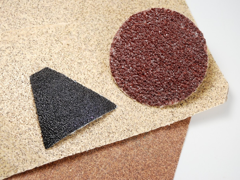 Various grits of sandpaper, use to create texture to hide flaws in polymer clay.