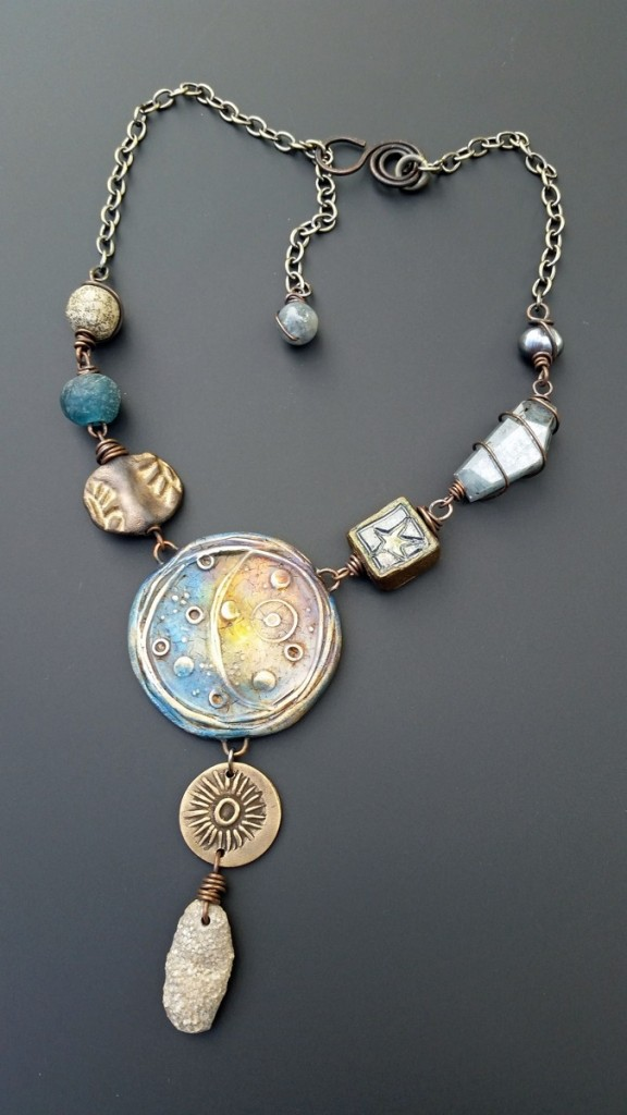 Staci Louise Smith necklace with polymer center