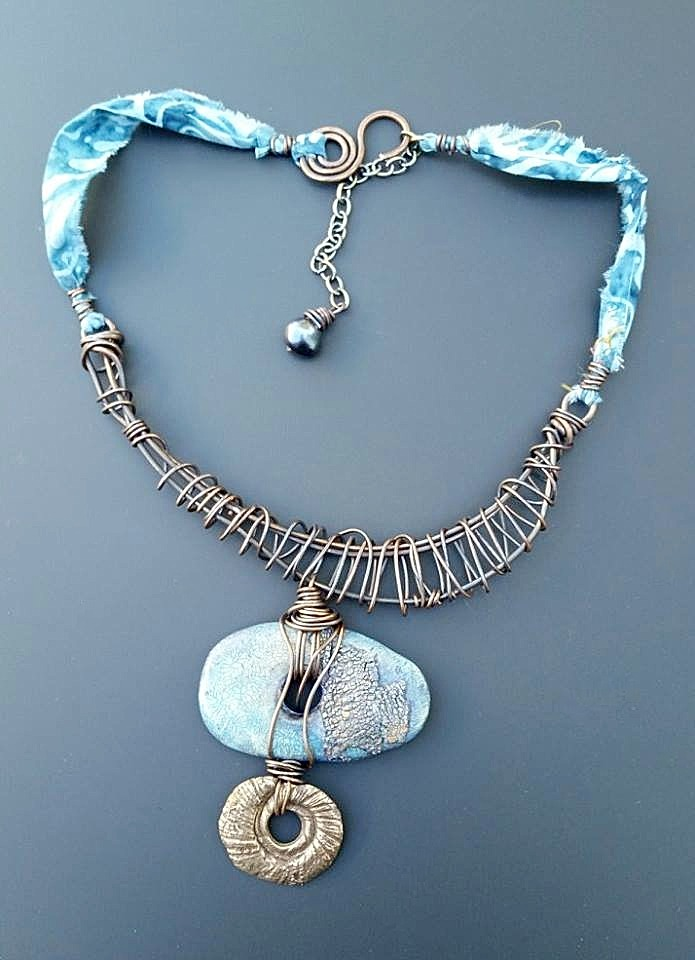 Staci Louise Smith necklace with polymer donut