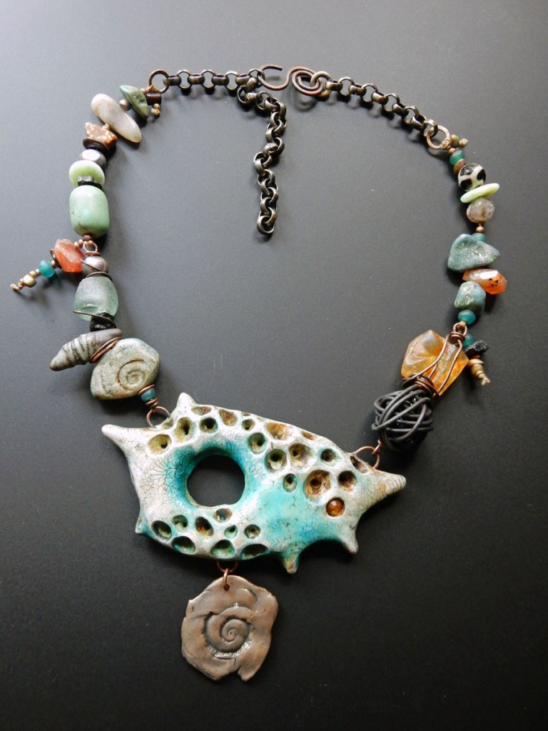 Staci Louise Smith necklace with spikey donut bead