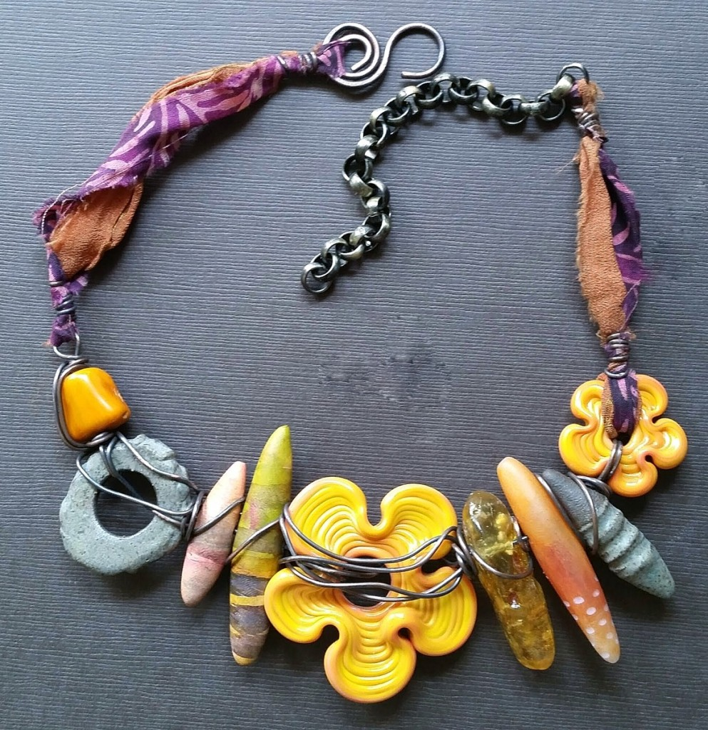 Staci Louise Originals necklace with yellow flower