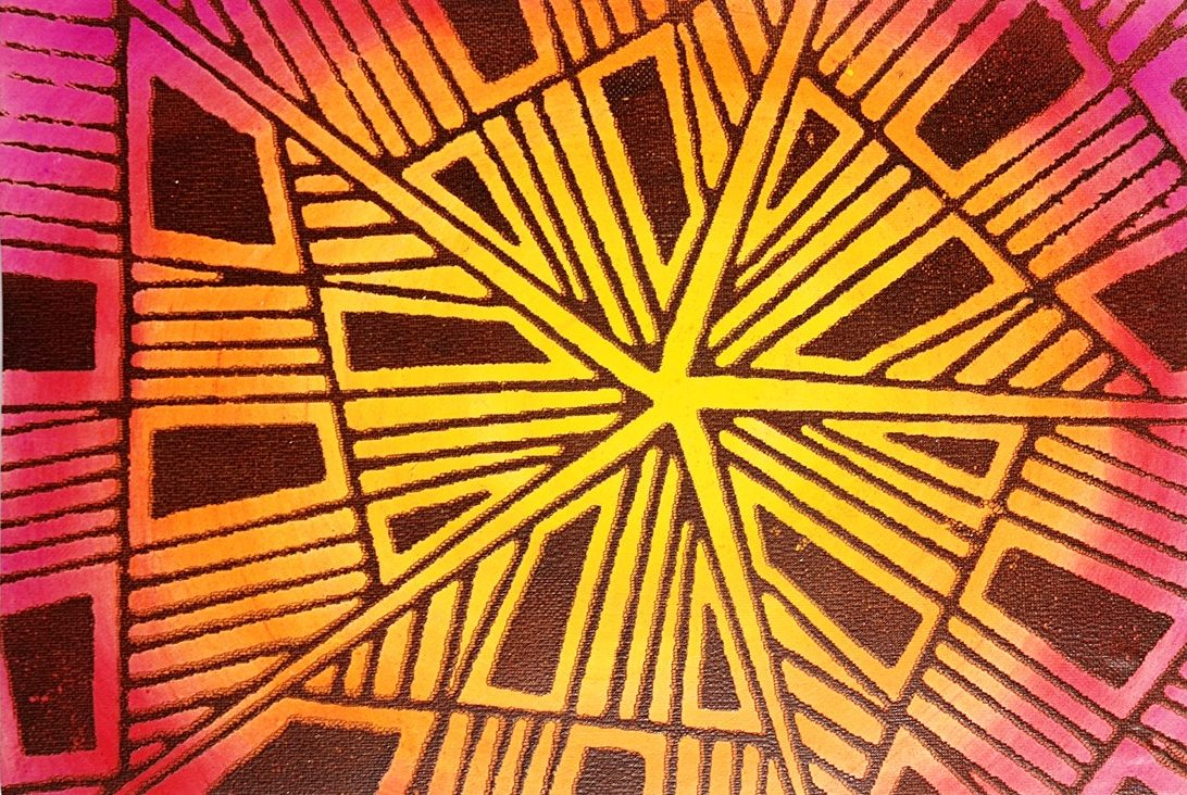 Helen Breil's Funky Martini silkscreen glows on polymer clay.