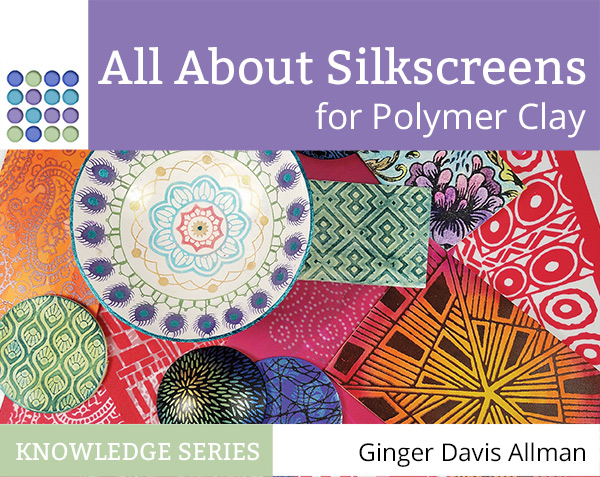 Nervous about using silkscreens with polymer clay? This comprehensive ebook will take you through everything and even show you new ways to use those beautiful designs.