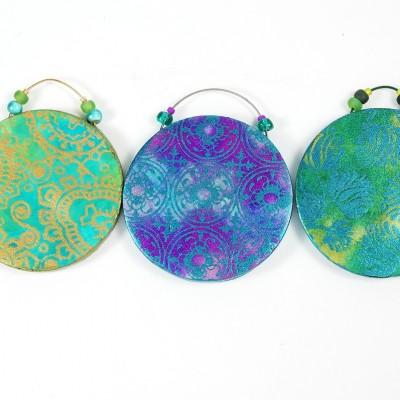 Three Opulent Tapestry Pendants
