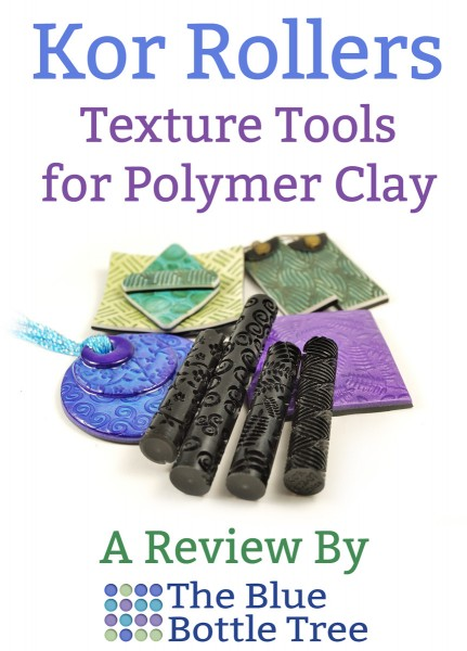 Learn about Kor Rollers, a fantastic way to make texture on polymer clay. Read the review on The Blue Bottle Tree.