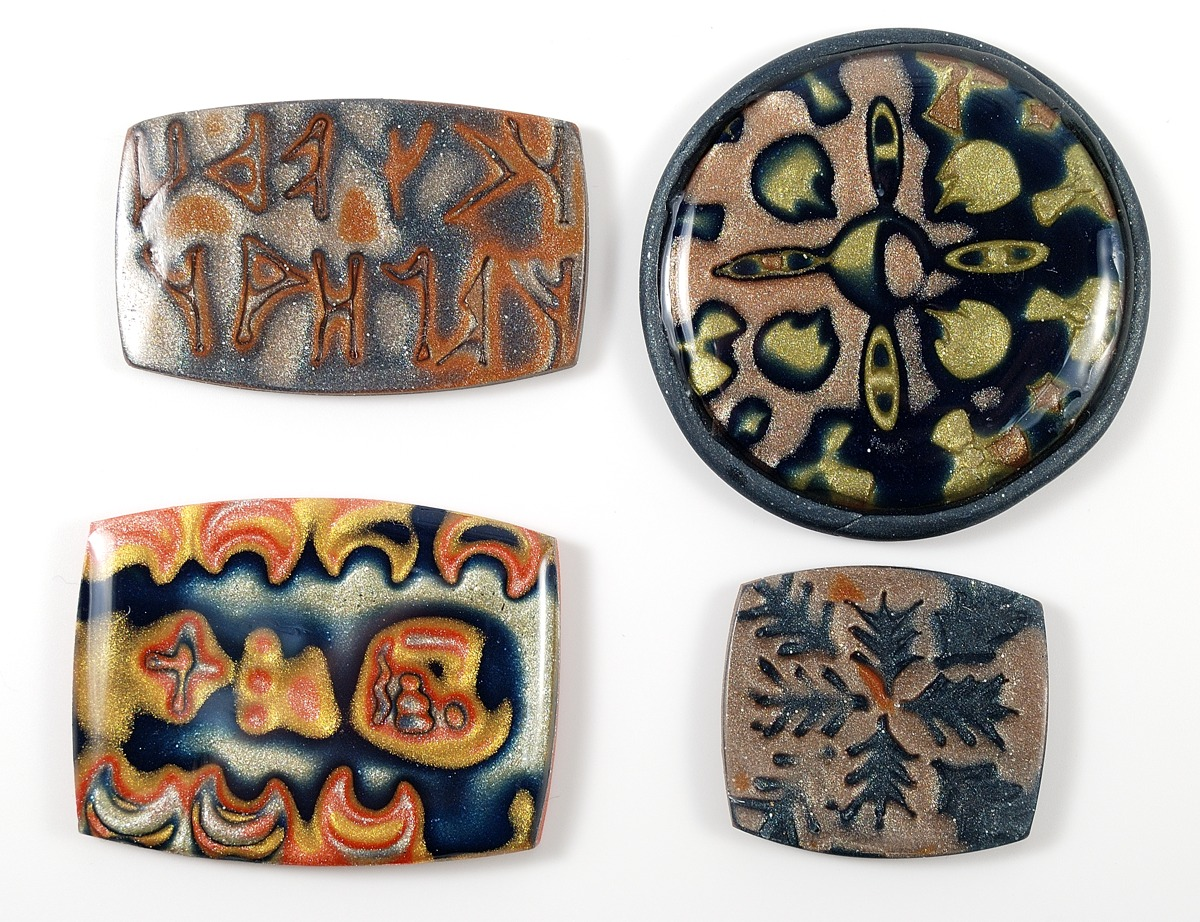 Mokume gane is a great way to use Stampies with polymer clay.
