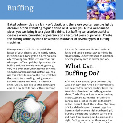 Here's a screenshot of a page from the Sanding and Buffing in Polymer Clay eBook.